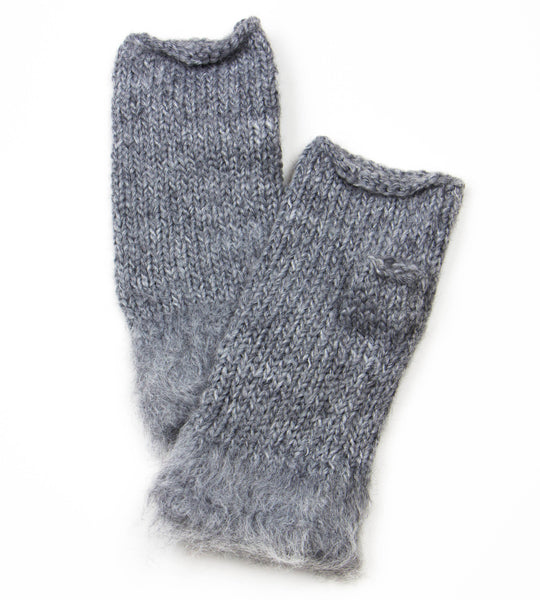 100% acrylic wool knitted fingerless mittens by Peruvian Trading Co., perfect to keep your hands warm for the winter.