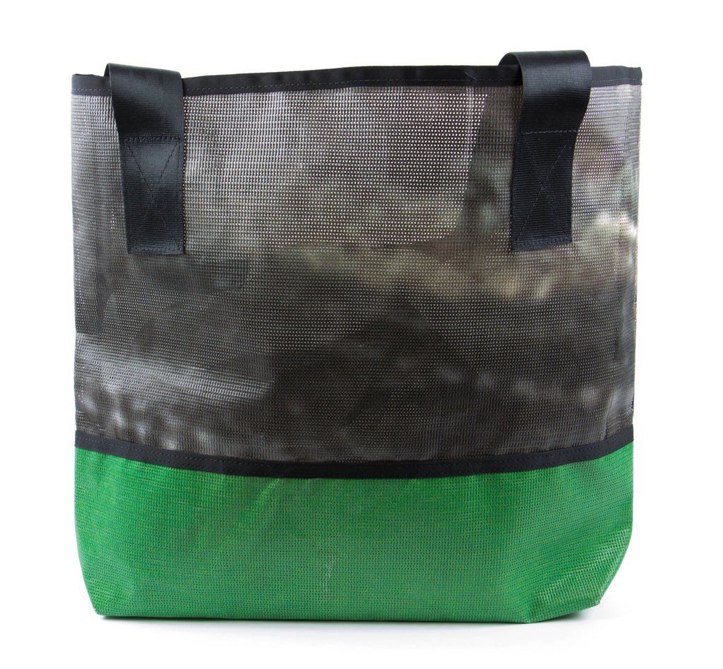 100% recycled vinyl tote bag by Alchemy Goods, ready to go and carry anything you want!