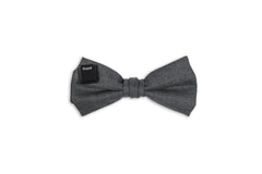 grey 100% wool bow tie by Swell Fellow, the perfect way to show your smarts and your style.