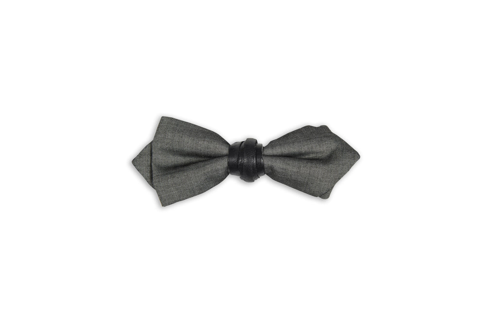 100% wool grey bow tie by Swell Fellow, a great way to show your style with a subtle edge.