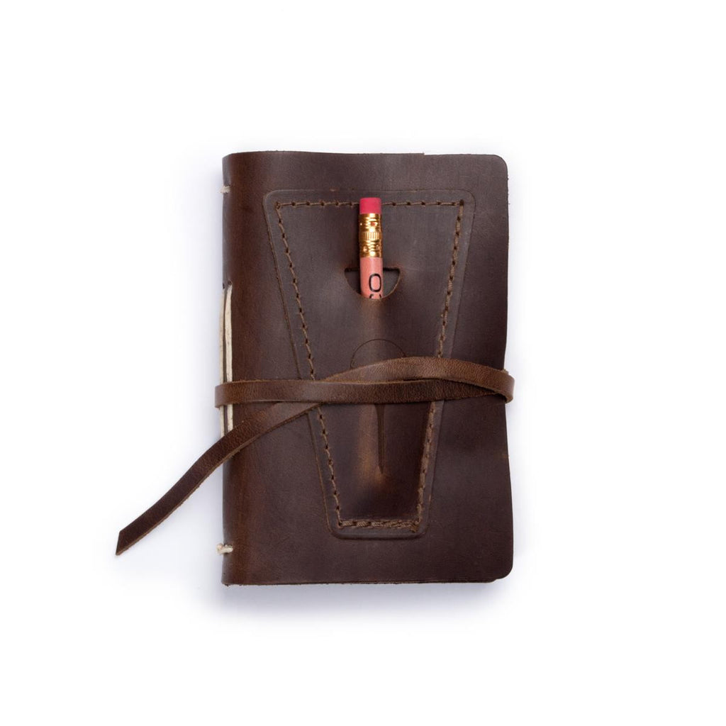 Leather Golf Log With Pocket