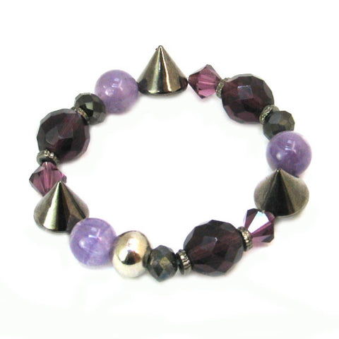 Gothic Purple Mix Studded Bracelet