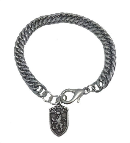 Mens Silver Chain Bracelet - Game of Thrones