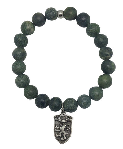 Mens Green Moss Agate Bracelet - Game of Thrones