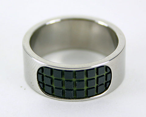 Men's Grid Ring - Black
