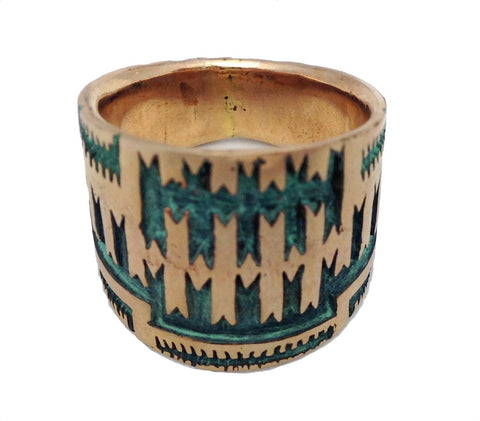 Navajo Saddle Ring