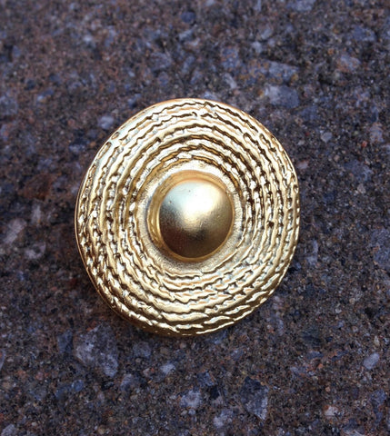 Gold Disc Boho Ring