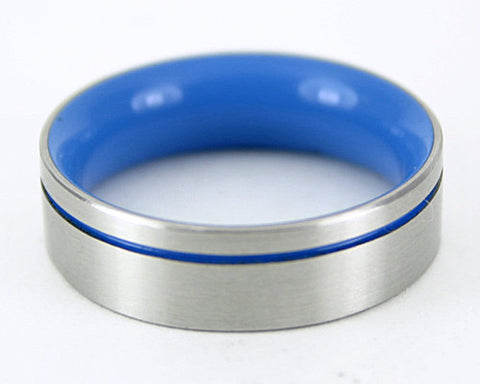 Men's Design Ring - Blue
