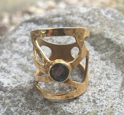 """Live Long & Prosper"" Gold Ring"