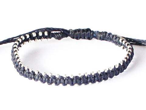Men's Star Bracelet - Navy Blue
