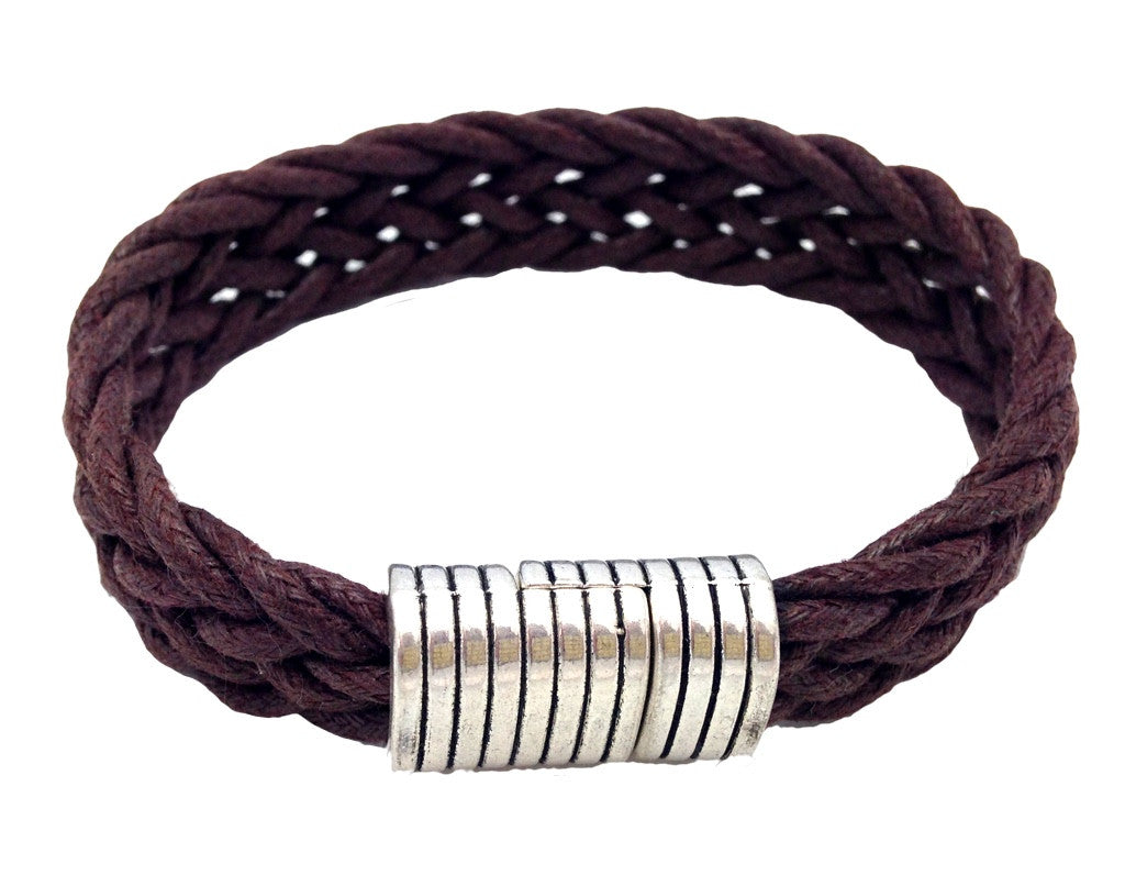 MensBrown Braided Bracelet