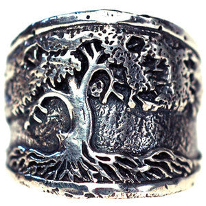 Men's Tree of Life Ring - Silver