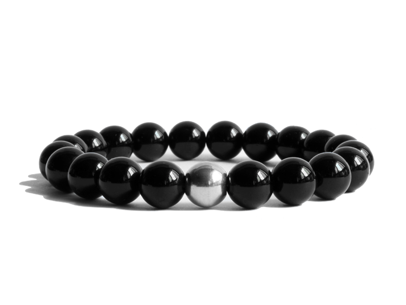 Citystate Beads Agate with Stainless Steel Bead