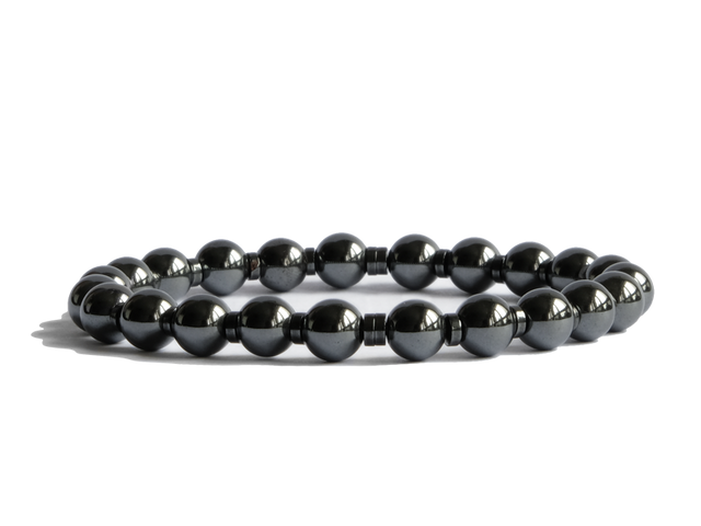 Citystate Beads Hematite Bracelet with Hematite Spacers