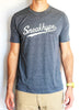 Sneakhype Script Logo Tee in Antique Denim