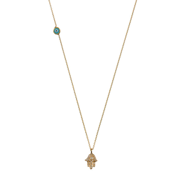 Altan Necklace - yellow gold, white diamonds