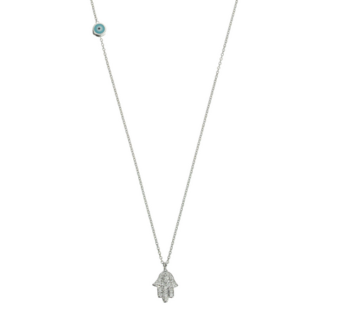 Altan Necklace - white gold, white diamonds