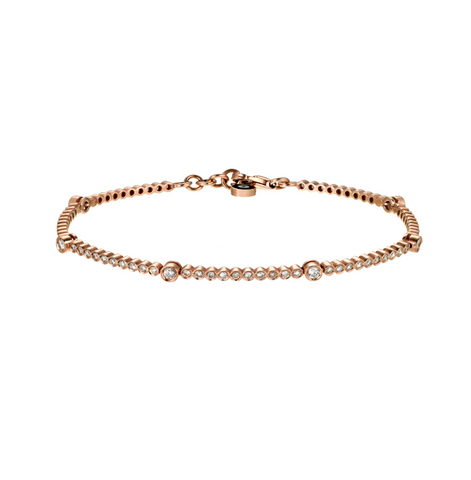 Nuran Bracelet - rose gold, champagne diamonds
