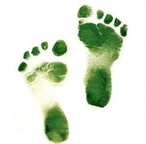 Green foot prints