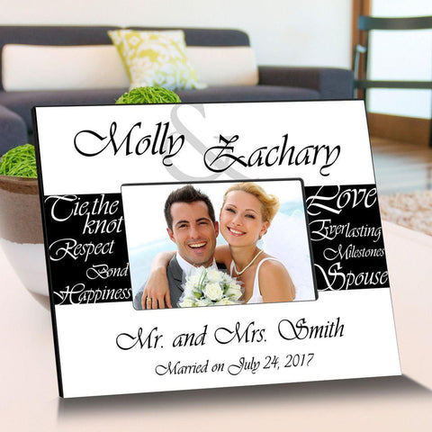 Personalized Everlasting Love Wooden Picture Frames - WhiteBlack - Frames - AGiftPersonalized