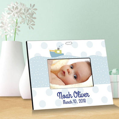 Personalized Children's Picture Frames - Tug Boat -  - JDS