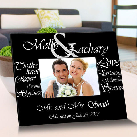 Personalized Everlasting Love Wooden Picture Frames - Black - Frames - AGiftPersonalized