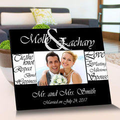 Personalized Everlasting Love Wooden Picture Frames - BlackWhite - Frames - AGiftPersonalized