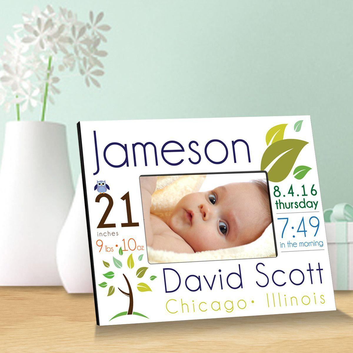 Personalized Baby Announcement Picture Frame