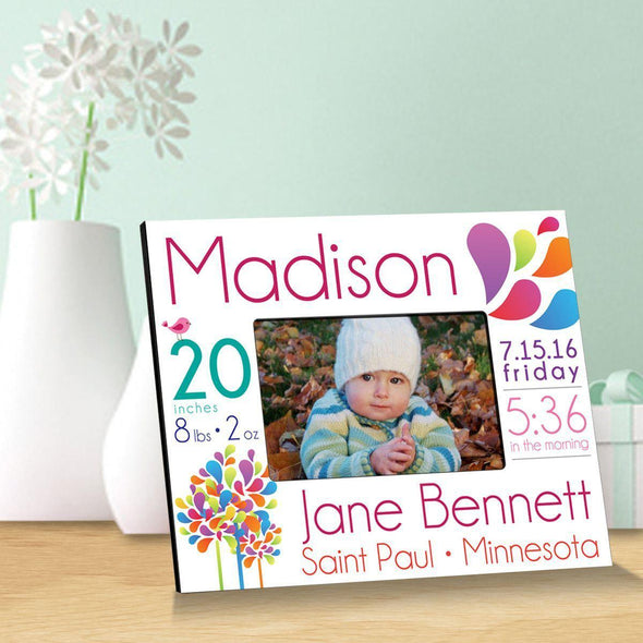 Personalized Baby Announcement Picture Frame - Girl - JDS