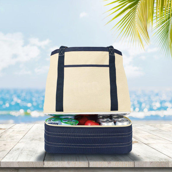 Personalized Cooler - Insulated - Coastal Cotton - Tote Bag -  - JDS