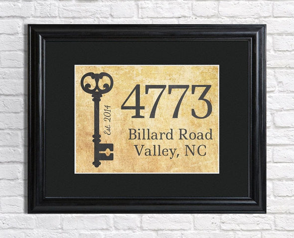 Our First Home with Address Personalized Framed Print -  - JDS