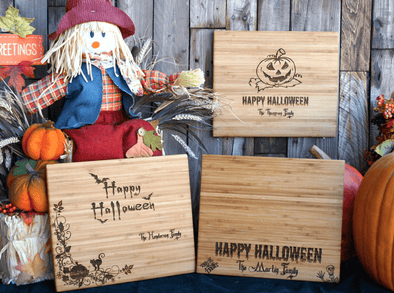 Personalized Spooky 11x13 Halloween Cutting  Boards - 3 Styles -  - Qualtry