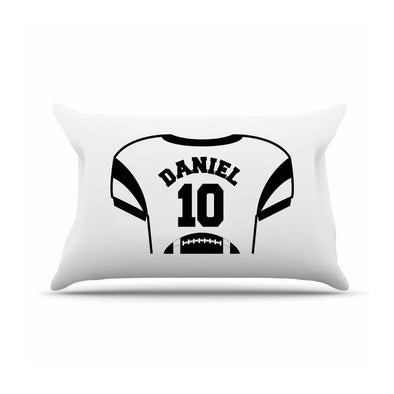 Personalized Kids Sports Jersey Pillowcase - Black - JDS