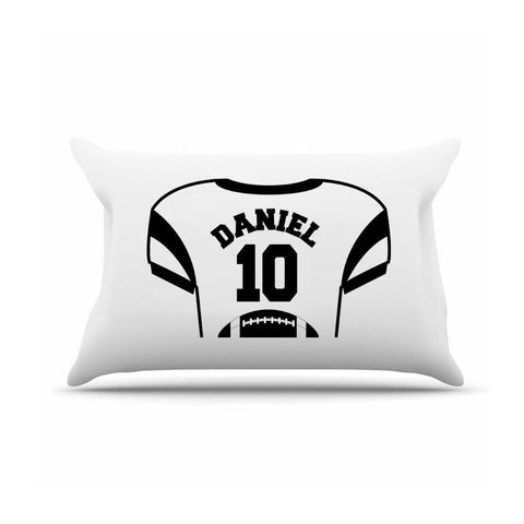Personalized Kids Jersey Pillow Case - Black - Gifts for Kids - AGiftPersonalized