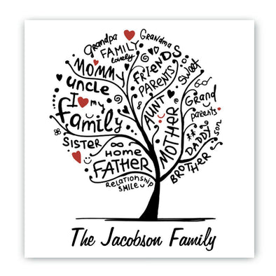 Personalized Family Roots Canvas Sign -  - JDS