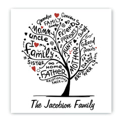 Personalized Family Roots Canvas Sign -  - Canvas Prints - AGiftPersonalized