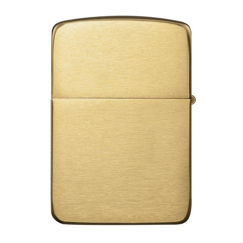 Personalized Brushed Brass 1941 Replica Zippo Lighter -