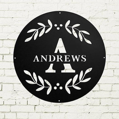 Personalized Family Name Metal Sign – Andrews Design -  - JDS