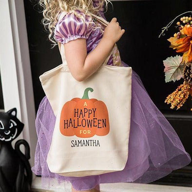 Personalized Halloween Trick-or-Treat Tote Bags -  - Qualtry