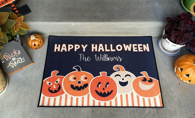 Personalized Large Halloween Door Mats -  - Qualtry