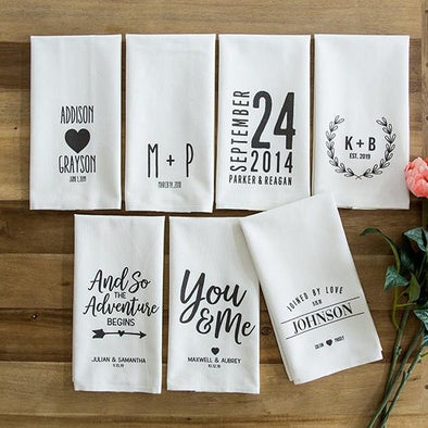 Personalized Wedding Tea Towels -  - Qualtry