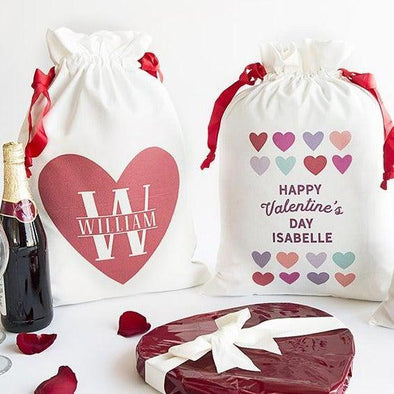 Personalized Love Themed Large Gift Bags -  - Qualtry