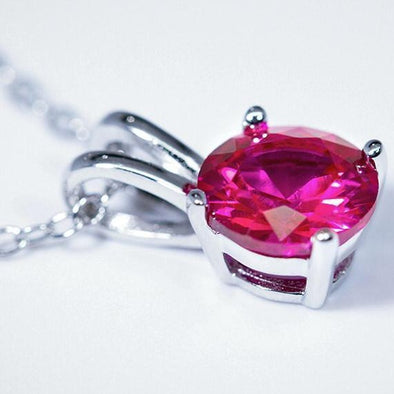 Ruby Pendant (1.2 Carat Total Weight) -  - Qualtry