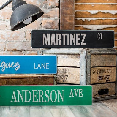 Personalized Aluminum Street Signs -  - Qualtry