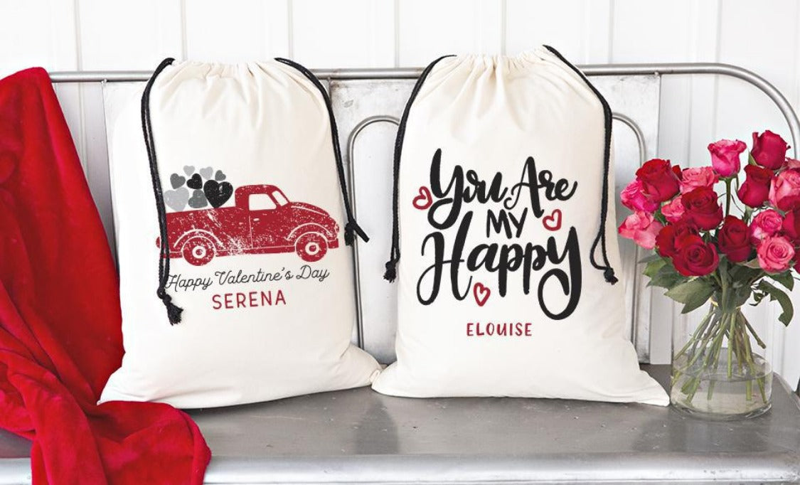 Personalized Valentine's Day Jumbo Gift Bags
