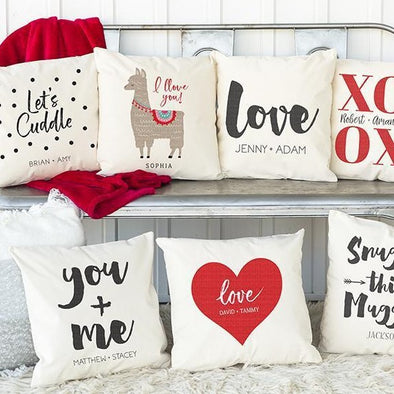 Personalized Throw Pillow Covers (Love Themed) -  - Qualtry
