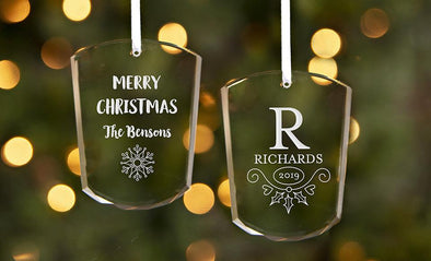 Personalized Votive-Shaped Crystal Ornaments -  - Qualtry