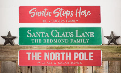 Personalized Holiday Aluminum Street Signs -  - Qualtry