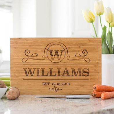Personalized Bamboo Cutting Board 11x17 - Modern Collection -  - Qualtry