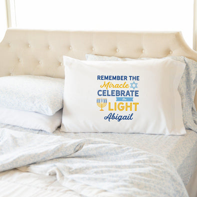 Personalized Hanukkah Pillowcases -  - Qualtry
